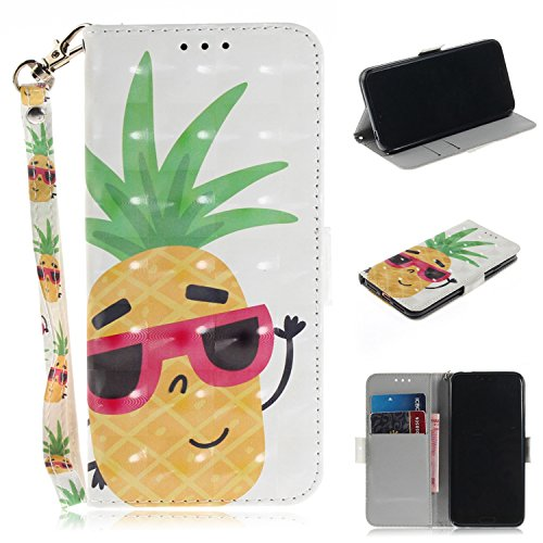 Preisvergleich Produktbild Huawei Honor 10 Handyhülle Honor 10 [Premium Leder] [Standfunktion] [Kartenfach] [Magnetverschluss] 3D Schlanke Leder Brieftasche für Huawei Honor 10 (9)