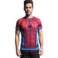 Cody Lundin® Uomo Compressione Sport stretta Camicia Spider Eroe Asciugatura rapida Wicking traspirante Magliette (M)
