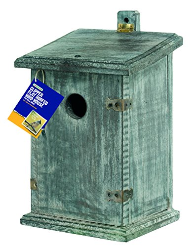 Gardman ba02046 Clipper Bird Nest Box flach Dach, 17,1 cm lang x 17,1 cm breit x 27,9 cm hoch (Farm Vogel-feeder)