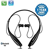 Quastro HBS-730 Bluetooth Stereo Sports Headset Compatible with Xiaomi, Lenovo, Apple, Samsung, Sony, Oppo, Gionee, Vivo Smartphones(Multicolour)