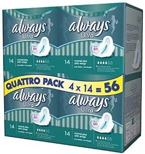 Always - Ultra Normal Plus Quattropack - 4 x 14 Serviettes