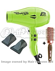 Parlux Advance Light Ionic and Ceramic Hair Dryer - Neon Green + Free Brush