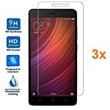 Pack 3x Screen Protector for XIAOMI REDMI NOTE 4, Tempered glass, Premium quality, Electrónica Rey®
