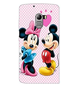 PrintDhaba Mickey and Minnie D-2356 Back Case Cover for LENOVO K4 NOTE A7010a48 (Multi-Coloured)