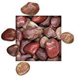 5 kg Polierter Kiesel Glanzkies Flusskiesel Kieselsteine Ziersteine Gartenkies Zierkies rot Körnung 20/30 mm