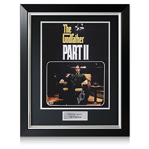Godfather 2 Filmplakat von Al Pacino signiert. Im Deluxe-Rahmen