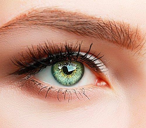 ELFENWALD farbige Kontaktlinsen, 3-Monatslinsen, besonders natürlicher Look, maximaler Tragekomfort, SUPREME Serie, ohne Stärke, 1 Paar weiche Farblinsen ohne Zusatzbehälter (Grün)