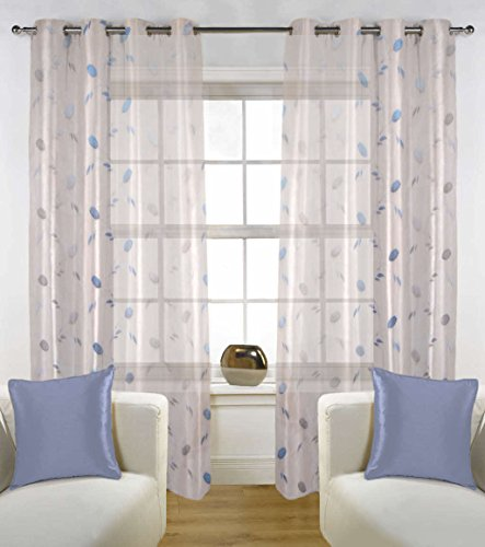 check MRP of sheer curtains blue FABUTEX