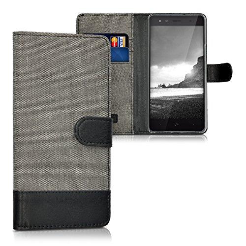 kwmobile bq Aquaris X5 Hülle - Kunstleder Wallet Case für bq Aquaris X5 mit Kartenfächern & Stand