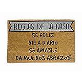 koko doormats Felpudo Reglas de la Casa Oscuro-Grey, PVC, Coco, 40 x 60 cm