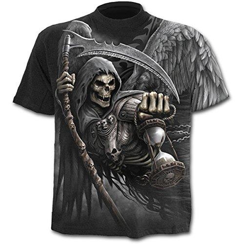 Spiral -  T-shirt - Collo a U  - Maniche a 3/4 - Uomo nero XX-Large