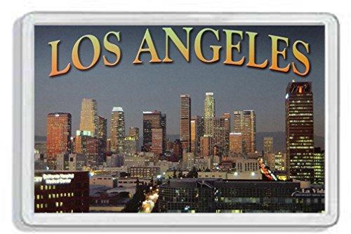 AWS Magnet PVC harte Los Angeles USA Souvenir Gadget USA Amerika Magnet Fridge Magnet Magnet für Kühlschrank aus hartem Kunststoff mit Bild Foto Stadt City Metropolen United States of America LosAngeles