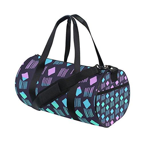 COOSUN Spaten und Streifen Duffle Tasche Schulter Handy-Sport Gym-Taschen für Männer und Frauen Mittel Mehrfarben