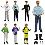 ZITA ELEMENT 3 Set Uniformen lässige Puppen Kleidung mit Schuhe für Fashionista Barbie Freund Ken Mann Junge Bekleidung Puppenkleidung