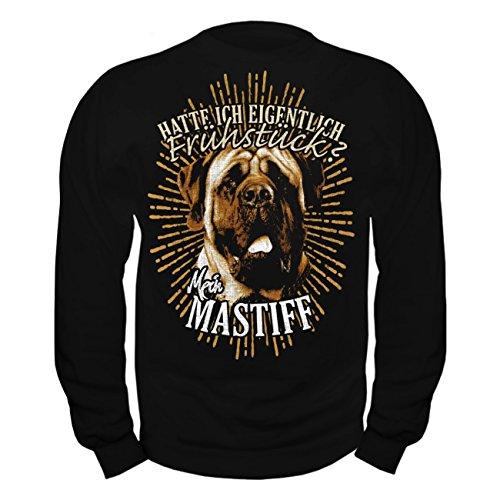 Männer und Herren Pullover Mastiff - Hatte ich eigentlich Frühstück Schwarz