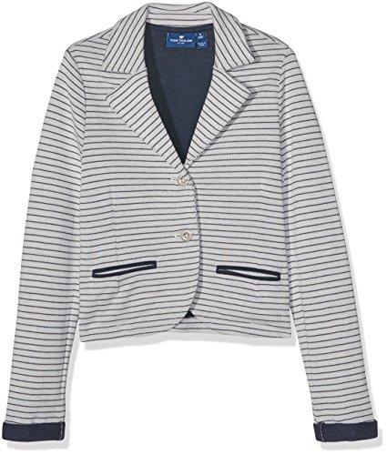 Tom Tailor Girl's Striped Sweat Blazer Sweatshirt