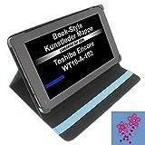 Tasche Strass Blume für Toshiba Encore WT10-A-102 Excite AT10-A-104 Book Style Schutz Hülle Buch blau