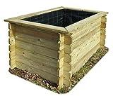 Gartenpirat Hochbeet 150x100x82 cm aus Holz imprägniert ohne Boden