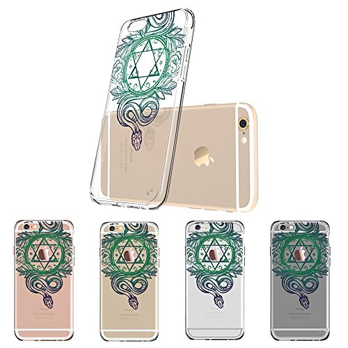 Coque iPhone 6s Mandala, ESR iPhone 6 / 6 S Coque Silicone Transparente Motif Mandala Tribal Fleur Henné Imprimé, Housse Etui de Protection Bumper Premium [Anti Choc] [Ultra Fine] [Ultra Léger] pour A Hexagramme