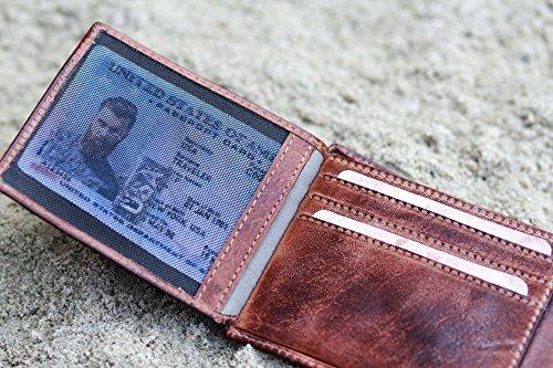 camel active, Geldbörse aus echtem Leder, hochwertiges Echtleder Portemonnaie für Herren, Geldbeutel braun braun / brown