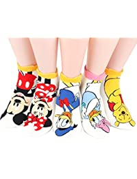 Disney Sneakers Women's Socks 7 pairs Made in Korea - Rough ElVmSG
