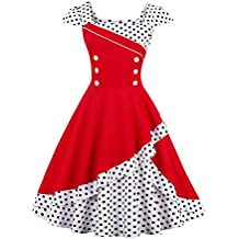 3bf68e69ab7b Suchergebnis auf Amazon.de für: rockabilly kleid rot weiß gepunktet ...
