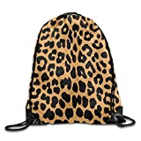 Etryrt Zaino con Coulisse,Borsa Palestra,Sacca Sportiva, Cool Animal Leopard Print Unisex Outdoor Gym Sack Bag Sport Drawstring Backpack Bag
