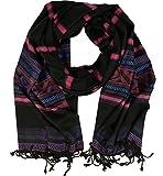 Guru-Shop Pashmina Viskose Schal/Stola - Schwarz, Herren/Damen, Synthetisch, Size:One Size, 180x70 cm, Schals Alternative Bekleidung