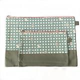Bestja 2X Impermeabile Multifunzione borsa cerniera A4 A5 documento di formato con cerniera, Oxford stoffa pacchetto di ammissione borsa trucco (Grigio)