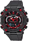 Sonata NH77030PP01J Superfibre Ocean III Analog-Digital Watch (NH77030PP01J)