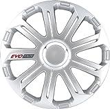 Autostyle Satz Radzierblenden EVO Race 16-Zoll Silber/Chrom Ringe/Logo