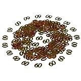 2000 piezas 50g Oro Metálica Número de dígitos 60 Letras Feliz cumpleaños Confeti Decoración para cumpleaños, Fiesta, Aniversario de bodas, Vacaciones, Ocasiones...