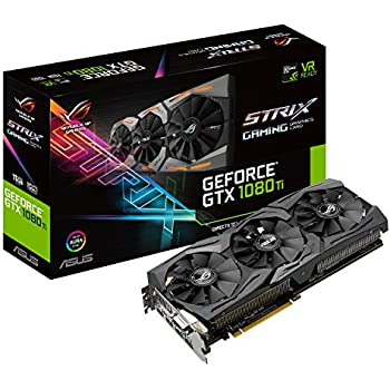 ASUS ROG Strix GeForce GTX1080Ti-11GB Gaming Grafikkarte (Nvidia, PCIe 3.0, 11GB GDDR5X Speicher, HDMI, DVI, DisplayPort)