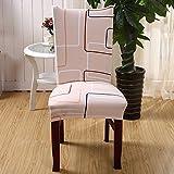 codinex (TM) 2017elástico corto extraíble funda de silla de comedor silla de habitación impresión para decoración del hogar plegable Slipcovers Cubierta de Silla