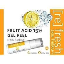 Peeling-Quimico Facial-Suero de Ácido Láctico y Ácido Glicólico 15%: Acido de Frutas Mejorado con Ácido Cójico, Gel de Exfoliación Facial 5ml