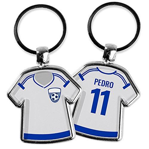 Llavero Camiseta Fútbol Personalizado Nombre/Dorsal