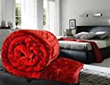 Single Bed Red Mink Blanket Of Standard ...