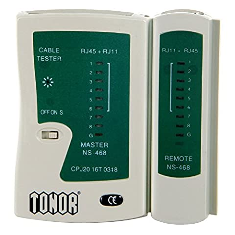 Tonor Testeur de Network/Réseau/Câble RJ45 RJ11 RJ12 CAT5 CAT6 UTP