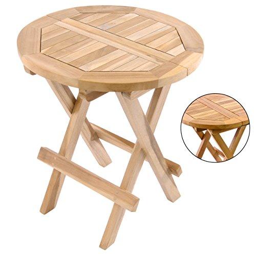 Divero Hocker Blumen-, Beistell-, Kinder-Tisch Garten Balkon Terrasse Teak-Holz klappbar behandelt...
