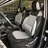 Han sui song Sitzbezug KFZ-Front Seat 2Pcs Waterproof Grey