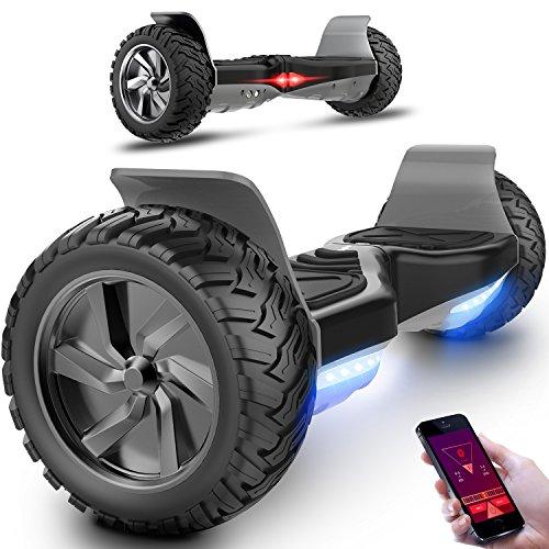 Motore 700W SUV Fuoristrada 8,5 inch Scooter Elettrico E-Balance E-skateboard Monopattino Elettrico,APP,LED (Nero)