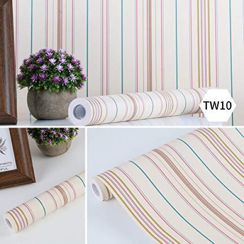 Wasserdichte selbstklebende Tapete Tapete Schlafzimmer Wohnzimmer gestreifte Wandaufkleber Möbelaufkleber