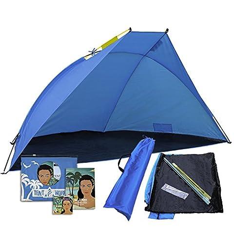 Portable Beach Tent Mars: Un doit avoir pour un Roadtrip. Abri de soleil extérieur pour s'asseoir dans le jardin avant, cour, parc, jardin. Pique-nique, événement sportif et Shades camping canopée mieux que n'importe quel parapluie