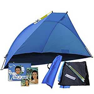 Mars Beach Tent: A Must Have for a Roadtrip. Portable Outdoor Sun Shade Shelter to Set in the Front Yard, Backyard, Park, Garden. Picnic, Sports Event & Camping Canopy Shades Better than Any Umbrella!
