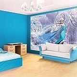 Kindertapete Wandtapete Disney Vliestapte für Kinderzimmer Frozen 152,5x104 cm