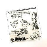Kulricke Einhorn Minis Set Stempel Set Stamp Clearstamps
