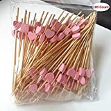 lenhar 100 zählt handgefertigt 11,9 cm Rosa Herz Cocktail Sticks Sandwich Obst Zahnstocher Cocktail Picks Party Supplies