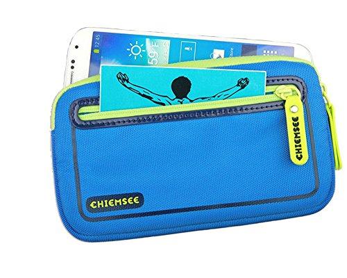 Chiemsee hochwertige Kamera-, Handytasche universal, Blau, spritzwasserabweisend, für z.B. Apple iPhone 6s, iPhone 6, Sony Z1 Compact, Z3 Compact, Z5 Compact, Samsung S5 Mini
