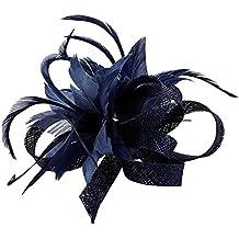 Clip de fascinador de plumas Tocado de la boda Pin nupcial de la broche de la flor