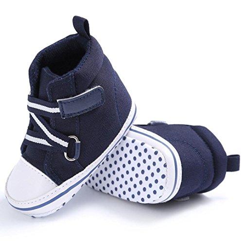 Bebê Menina Recém Janly Do Da Menino Sapatos Esportes Azul nascido Únicos Escuro Berço Sapatilha Macio RYxFawIRq